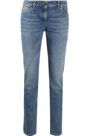 Brunello Cucinelli High-rise straight leg jeans