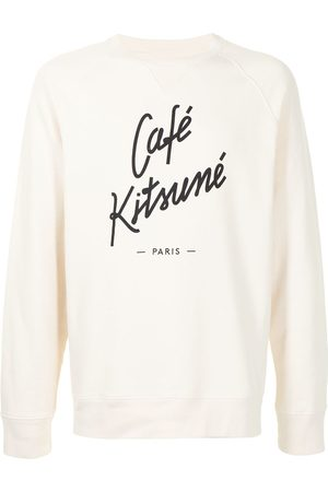 Maison Kitsuné Sweatshirts - Logo print crew-neck sweatshirt