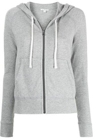 James Perse Women Hoodies - Fleece drawstring hoodie