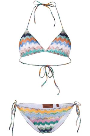 Missoni Women Bikinis - Mare Light chevron-knit bikini set