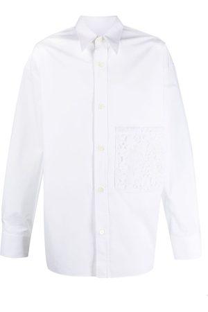 VALENTINO Floral lace pocket shirt