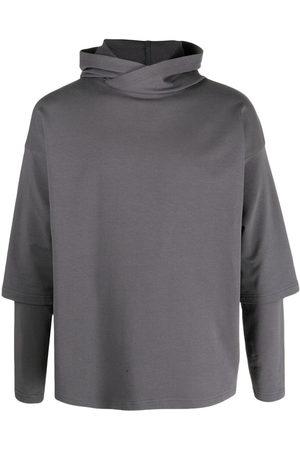 Alchemy Layered drop-shoulder hoodie