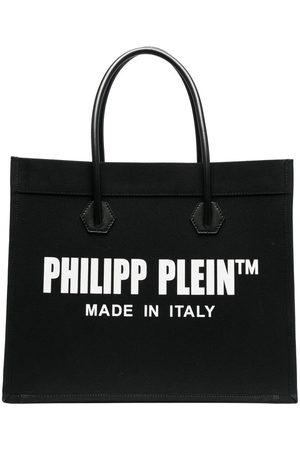 Philipp Plein Logo print shopper tote