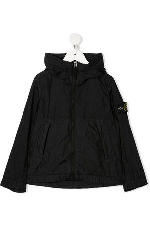 Stone Island Logo-patch hooded jacket