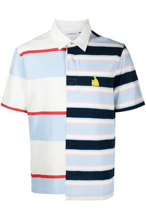 Lanvin Men Business - Rugby patchwork striped polo shirt