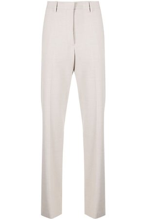OFF-WHITE Women Formal Pants - Logo-patch tailored trousers