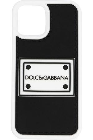 Dolce & Gabbana Men Phone Cases - Logo-patch iPhone 12 Pro case