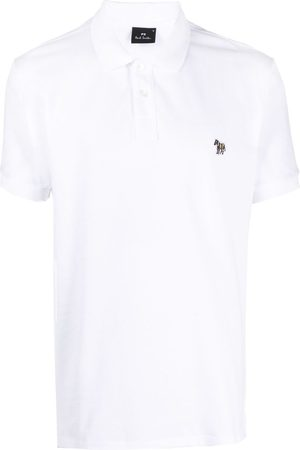 Paul Smith Men Polo Shirts - Zebra-patch polo shirt
