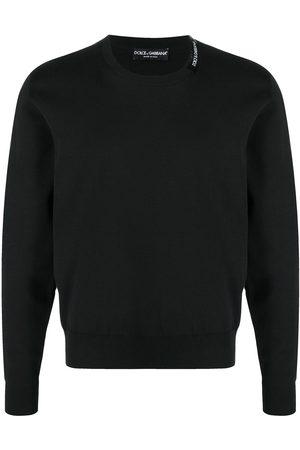 Dolce & Gabbana Men Sweatshirts - Logo-print crew-neck jumper
