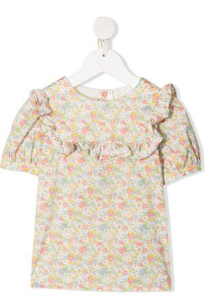 BONPOINT Girls Blouses - Floral-print cotton blouse