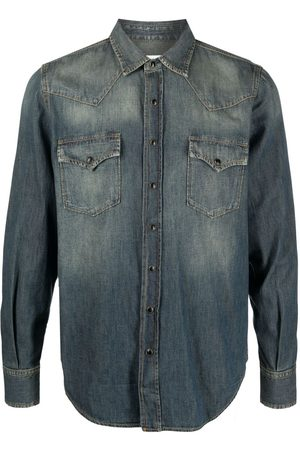 Saint Laurent Men Denim - Western denim shirt
