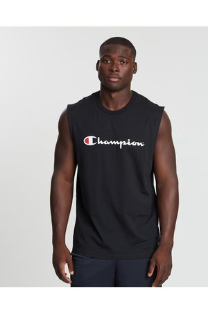 Champion Men Tank Tops - Script Muscle Tank - Muscle Tops Script Muscle Tank