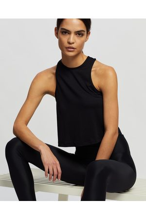AVE Activewoman Women Tank Tops - Cropped High Neck Tank Top - Muscle Tops Cropped High Neck Tank Top