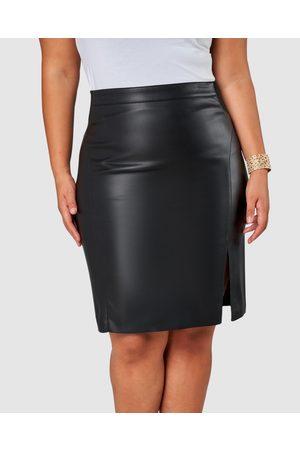 Pink Dusk Women Leather Skirts - Stinger PU Skirt - Leather skirts Stinger PU Skirt