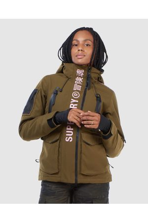 Superdry Women Jackets - Ultimate Rescue Jacket - Snow Sports (Dusty Olive) Ultimate Rescue Jacket
