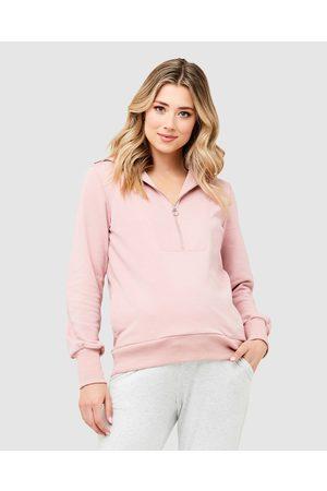 Ripe Maternity Women Sweatshirts - Kyle Zip Jumper - Sweats Kyle Zip Jumper