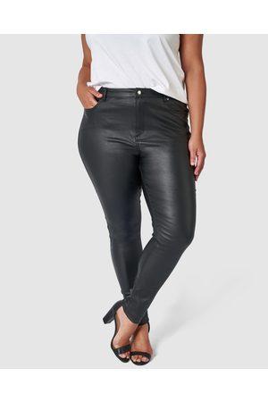Something 4 Olivia Rose Coated Jeans - High-Waisted Rose Coated Jeans