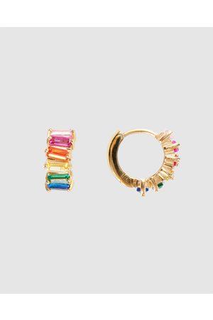 FAIRLEY Rainbow Cluster Huggies - Jewellery Rainbow Cluster Huggies