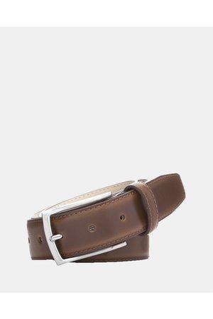 Buckle Men Belts - Casablanca Leather Belt - Belts (Tan) Casablanca Leather Belt