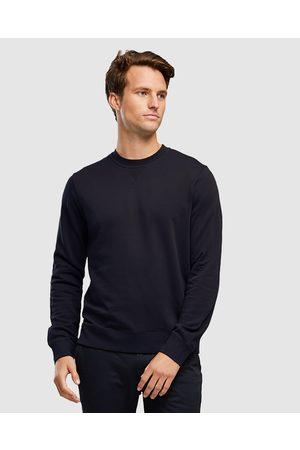 WAYVER Men Sweatshirts - Premium Cotton Sweat - Sweats (Navy) Premium Cotton Sweat