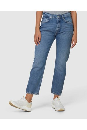 Superdry High Rise Straight Jeans - Slim (Mid Indigo Aged) High Rise Straight Jeans