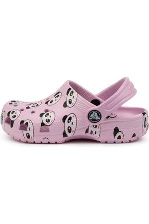 Crocs Girls Sandals - 206999 Classic P P K Tot Cc Sandals Girls Shoes Casual Sandals Flat Sandals