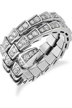 Bvlgari Serpenti Viper 18K & Pavé Diamond 2-Coil Ring