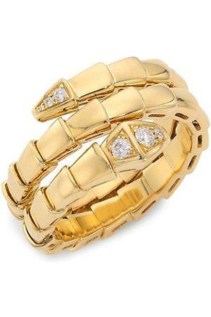 Bvlgari Serpenti Viper 18K & Diamond 2-Coil Ring