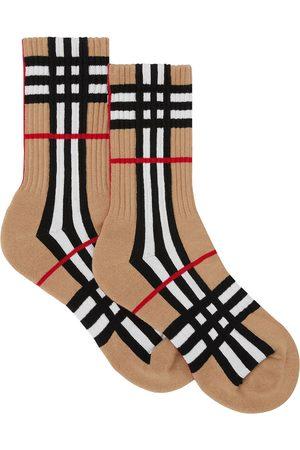 Burberry Socks - Check-intarsia socks