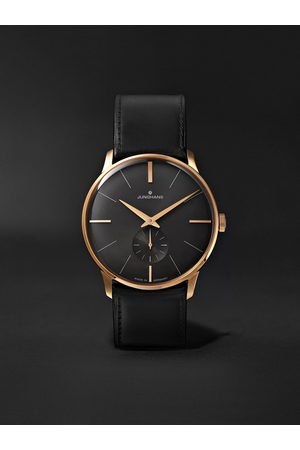 Junghans Meister Handaufzug Hand-Wound 37.7mm Stainless Steel and Leather Watch, Ref. No. 027/5903.00