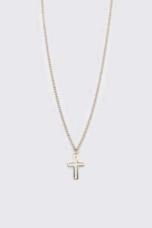 Boohooman Mens Cross Pendant Necklace