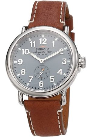 SHINOLA Watches - Runwell Stainless Steel & Leather Strap Watch