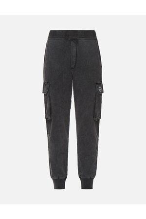 Evisu Woven Label Cargo Sweatpants