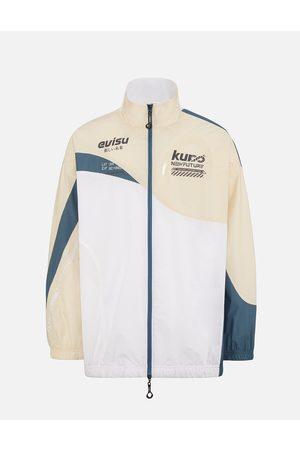 Evisu Men Outdoor Jackets - Colorblock Windbreaker Jacket