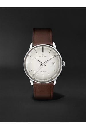 Junghans Men Watches - Meister Automatic 38mm Stainless Steel and Leather Watch, Ref. No. 027/4050.00