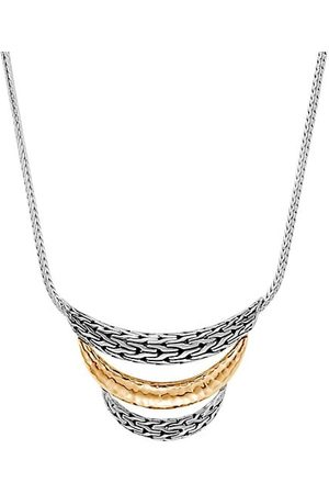 John Hardy Necklaces - Chain Bonded 18K Yellow Gold & Sterling Silver Bib Necklace