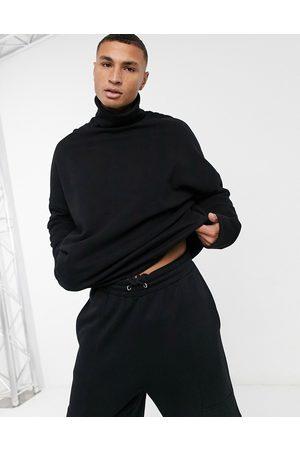 ASOS Extreme oversized turtle neck sweatshirt in black