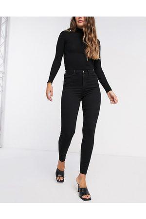 River Island High rise skinny jean in black