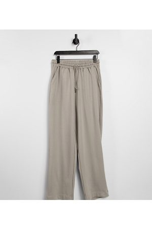 COLLUSION Unisex relaxed trackies in mushroom co-ord-Brown