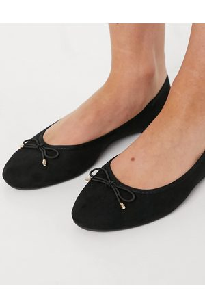 Accessorize Round toe bow ballet flats in black