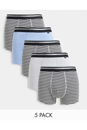 River Island 5-pack trunks in multi-Black