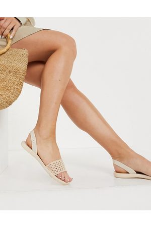 Ipanema Breezy two part sandals in ivory-Cream