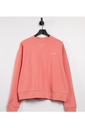 COLLUSION Unisex oversized cropped sweatshirt in pink co-ord