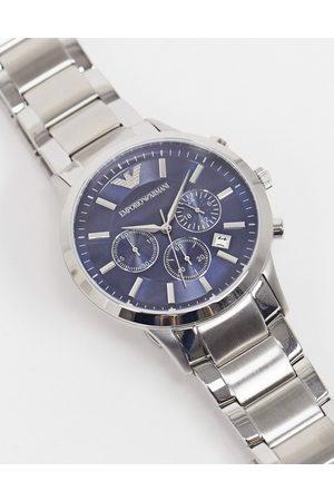 Emporio Armani Silver bracelet watch with blue dial AR2448
