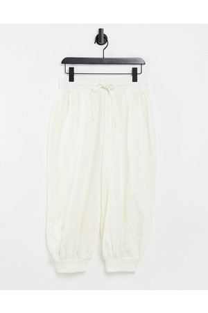 ASOS 4505 unisex 3/4 oversized trackies with embroidered 4505-Cream