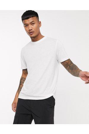 ASOS T-shirt in white linen mix