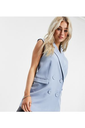 Y.A.S Sleeveless blazer in blue