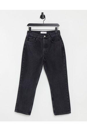 Topshop Women Straight - Editor straight leg jeans in black
