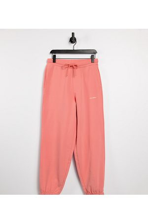 COLLUSION Unisex oversized trackies in stone co-ord-Pink