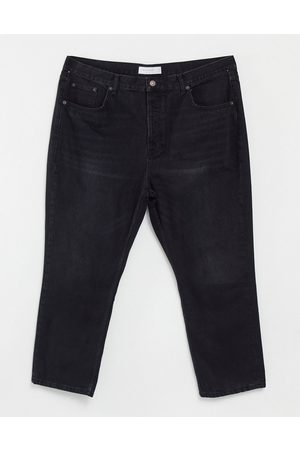 Topshop Editor straight leg jeans in washed black